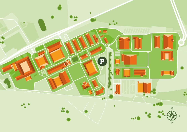 parkeerplaats plattegrond